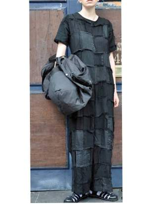Caplan Entwisle JUMPSUIT IN PATCH BLACK LINEN