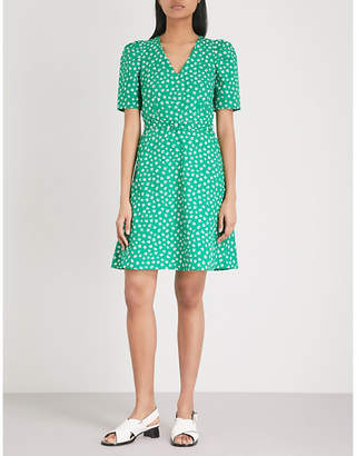 Claudie Pierlot Floral-print belted cotton mini dress