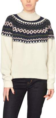 Just Female Mockneck Fairisle Sweater
