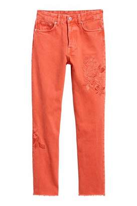 H&M Vintage High Ankle Jeans - Rust red - Women