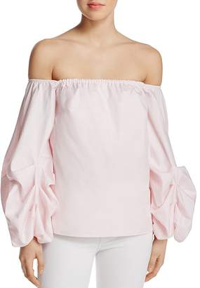 PETERSYN Hannah Off-the-Shoulder Top $220 thestylecure.com