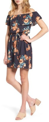 Women's Everly Floral Off The Shoulder Dress $45 thestylecure.com