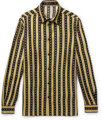 Versace Printed Silk-twill Shirt - Black