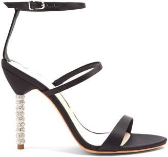 Sophia Webster Rosalind crystal-heel satin sandals