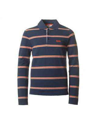 HUGO BOSS Kids Striped Long Sleeved Pique Polo