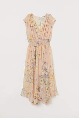 H&M Dress with Smocking - Beige
