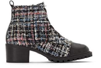 La Redoute Collections Tweed Ankle Boots