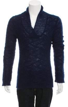 Balmain Open-Knit Mohair-Blend Sweater