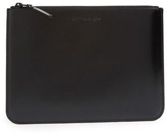 Men's Comme Des Garcons Top Zip Pouch Wallet - Black $204 thestylecure.com
