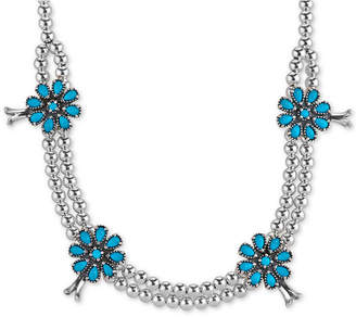 American West Genuine Turquoise (5-1/5 ct. t.w.) Flower Beaded Statement Necklace