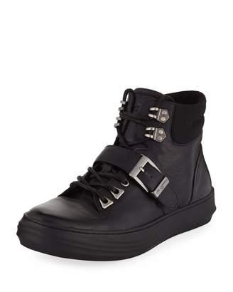 Karl Lagerfeld Paris Mens' High-Top Sneaker-Style Boots