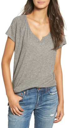 Women's Madewell Choral Split Neck Tee $39.50 thestylecure.com
