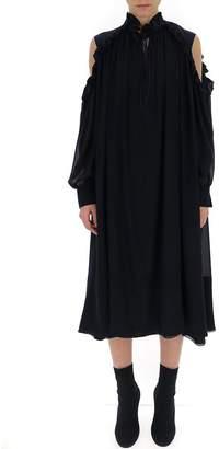 Chloé Ruffle Detail Shirt Dress