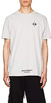 Marcelo Burlon County of Milan Men's Logo Cotton Jersey T-Shirt