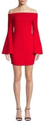 BCBGeneration Off-The-Shoulder Bell-Sleeve Dress