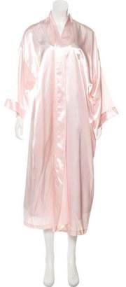 Christian Dior Satin Long Sleeve Nightgown