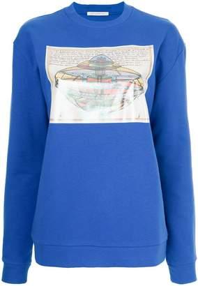 Christopher Kane UFO patch sweatshirt