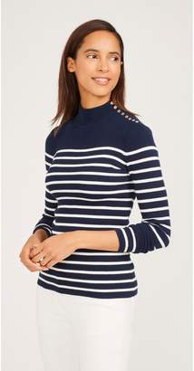 J.Mclaughlin Beacon Turtleneck in Stripe