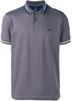 HUGO BOSS stripe detailed polo shirt