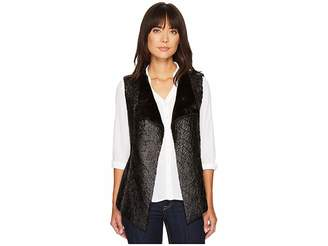 NYDJ Coated Faux Fur Vest Women's Vest
