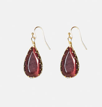 Avenue Purple Stone Teardrop Earrings