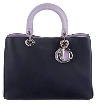 Christian Dior Tricolor Snakeskin Diorissimo Bag