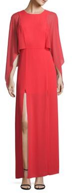 BCBGMAXAZRIA Doriana Cape Gown $298 thestylecure.com
