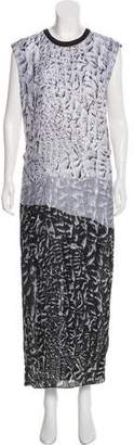 Helmut Lang Printed Silk Dress