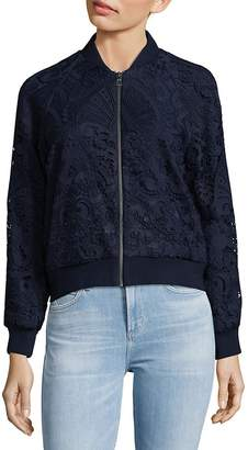 Alice + Olivia Women's Embroidered Bomber Jacket
