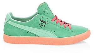 Puma Men's Clyde South Beach Suede& Leather Sneakers