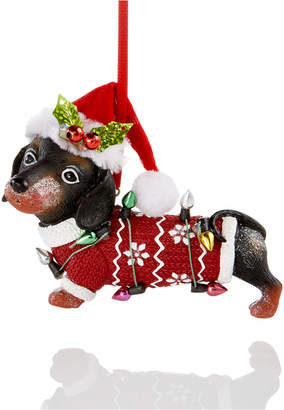 Holiday Lane Dachshund With Santa Hat Ornament, Created for Macy's