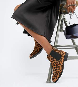 Park Lane Flat Leopard Chelsea Boots