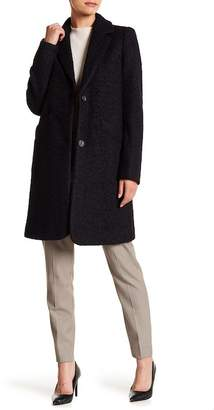 Andrew Marc Aliza Front Button Wool Blend Coat