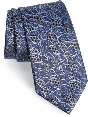 Ermenegildo Zegna Leaf Silk Tie
