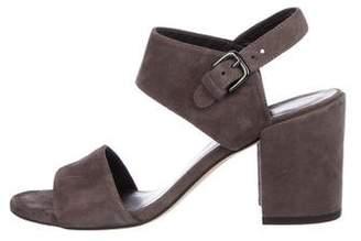 Stuart Weitzman Suede Ankle-Strap Sandals