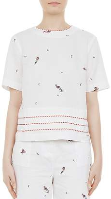 Ted Baker Colour By Numbers Nolene Embroidered Top