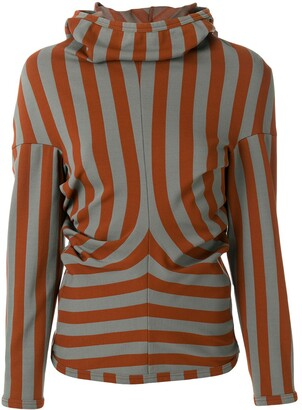 Comme des Garcons Pre-Owned striped slim-fit hoodie