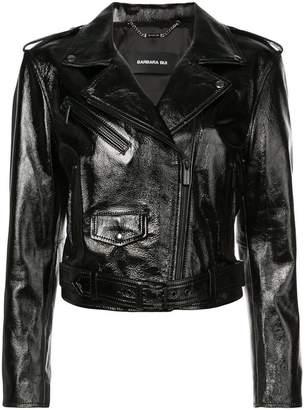 Barbara Bui patent biker jacket