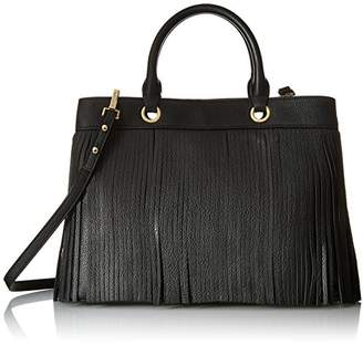 Milly Essex Fringe Tote Convertible Top Handle Bag
