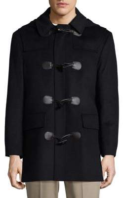 Lauren Ralph Lauren Wool-Blend Hooded Toggle Topcoat