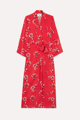 BERNADETTE - Floral-print Silk Crepe De Chine Wrap Maxi Dress - Red