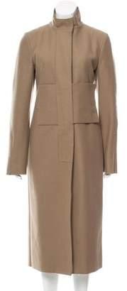CNC Costume National Long Wool-Blend Coat