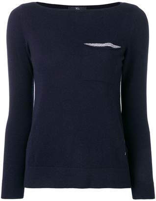 Fay chest pocket jumper