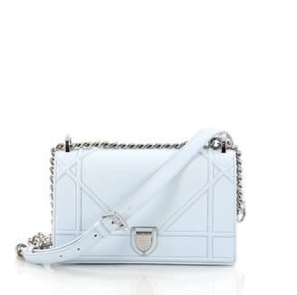 Christian Dior Blue Leather Handbag