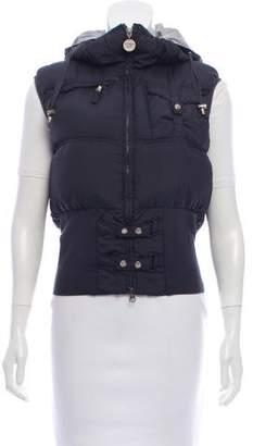 Patrizia Pepe Puffer Hooded Vest