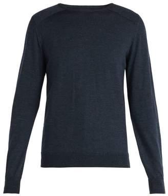 Oliver Spencer Blade Crew Neck Merino Wool Sweater - Mens - Navy