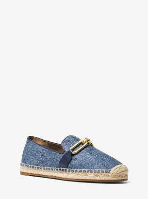 Michael Kors Lennox Denim and Jute Espadrille