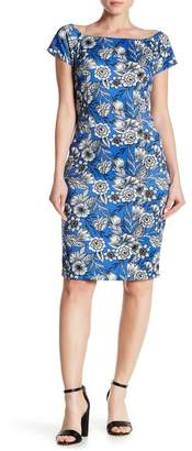 Alexia Admor Short Sleeve Print Bodycon Dress