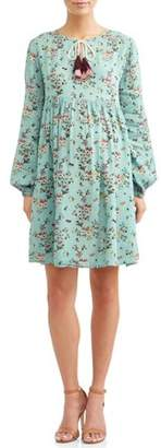 Liz Lange Maternity Maternity Tiered Boho Dress W/Tassels