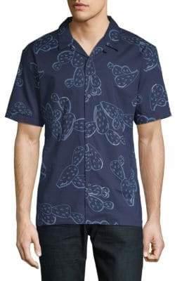 Antony Morato Printed Cotton Button-Down Shirt